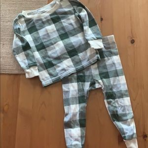 Burts bees pjs run small size is  9-12 months